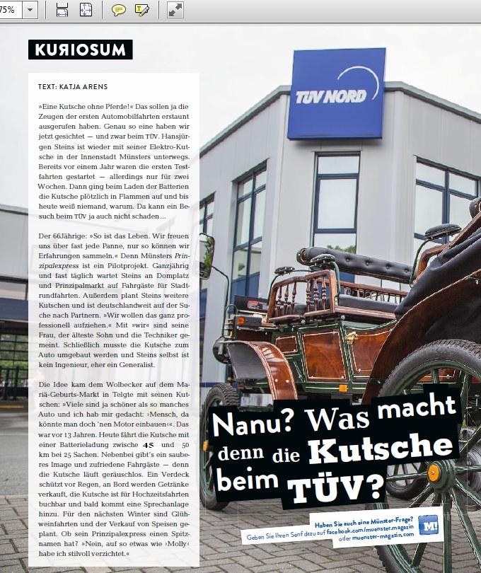 Pressebericht Münstermagazin
